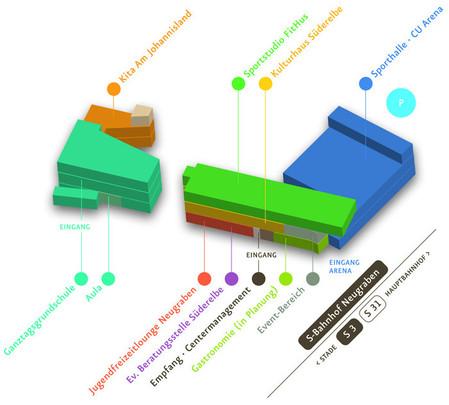 BGZ Lageplan, Orientierung, Karte